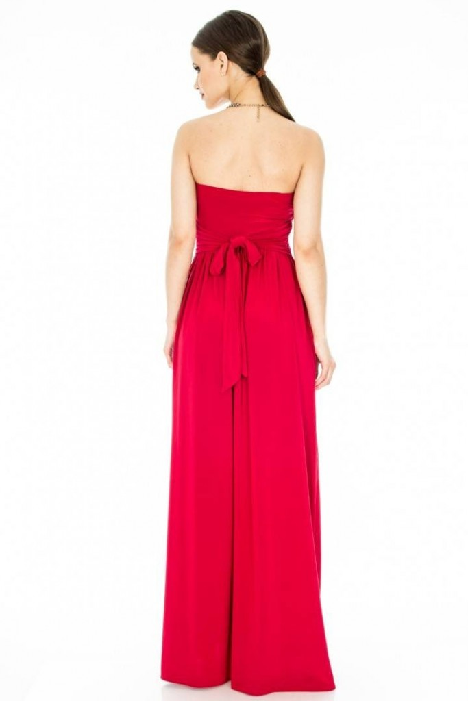 rochie rosie lunga de nunta