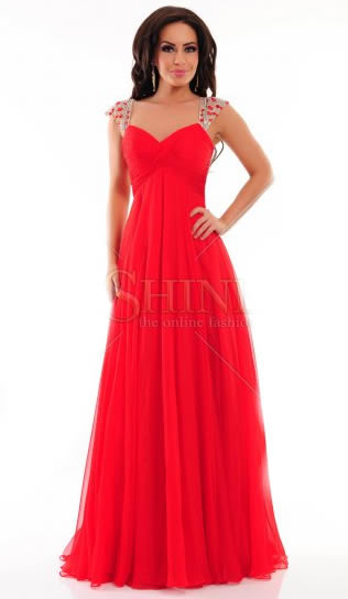 rochii rosii Sherri Hill online