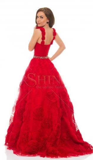 rochii rosii de lux