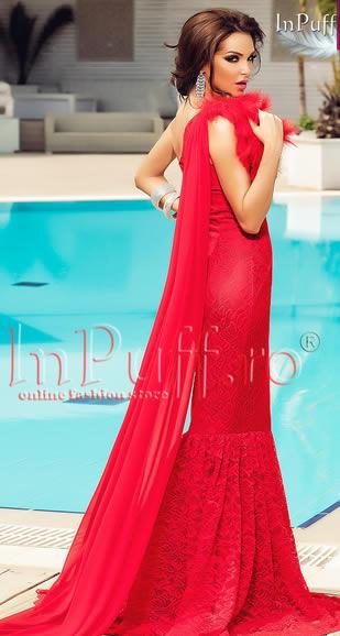 rochii rosii lungi tip sirena atmosphere pentru nunti
