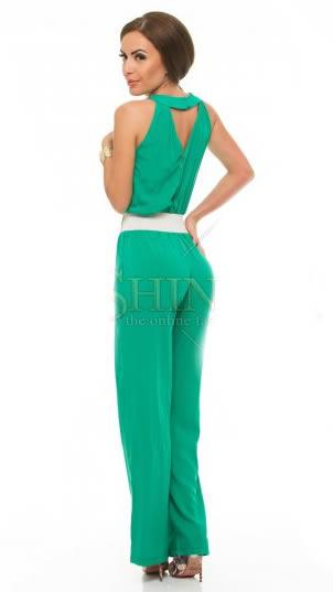 salopeta de zi lunga verde eleganta