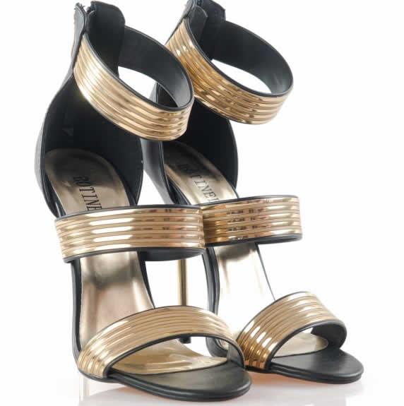 sandale de ocazie negre elegante