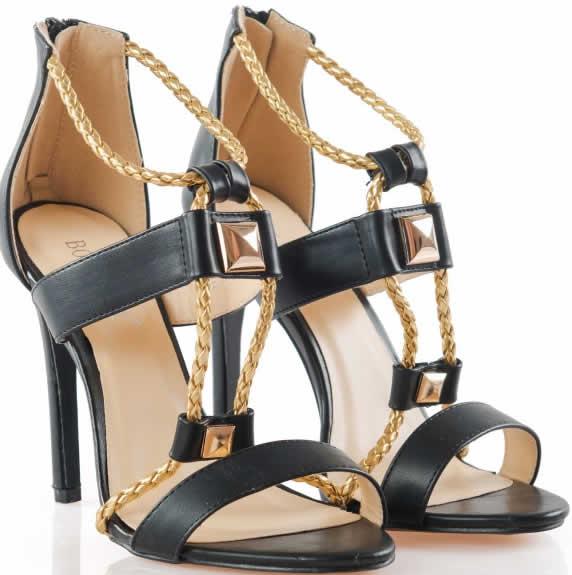 sandale ieftine negre cu toc inalt