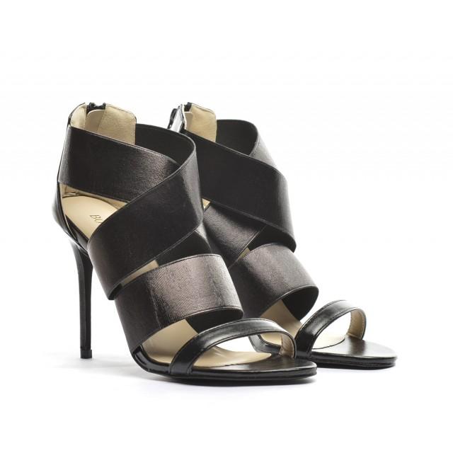 sandale negre cu toc 2015