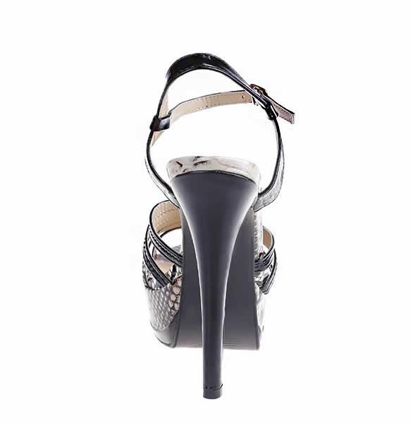 sandale negre cu toc elegante cu platforma