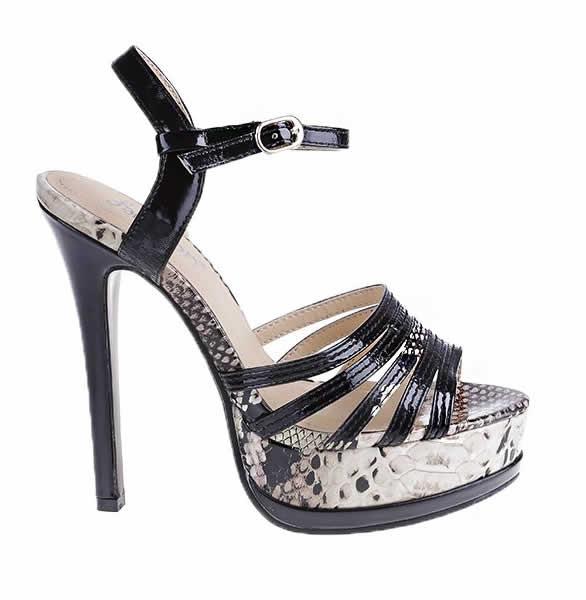 sandale negre cu toc elegante