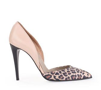PANTOFI stiletto piele animal print leopard