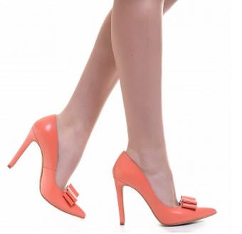 pantofi corai piele naturala