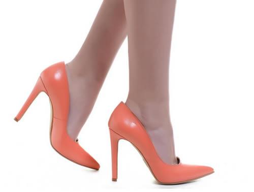 pantofi corai stiletto piele