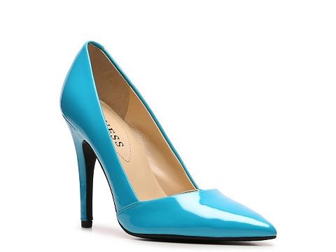 pantofi din piele guess albastri