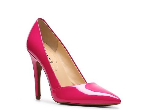 pantofi din piele guess roz fucsia