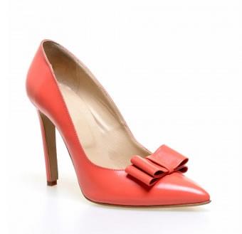 pantofi stiletto corai piele