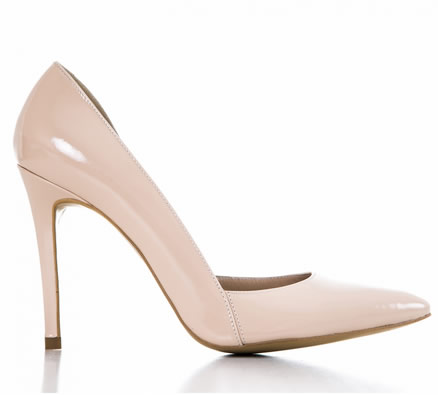 pantofi stiletto nude lac condur by alexandru