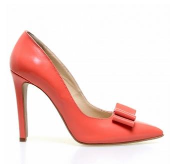 pantofi stiletto piele corai