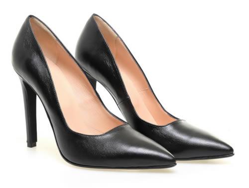 pantofi stiletto piele negri