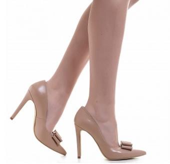pantofi stiletto piele nude de ocazie