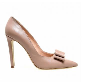 pantofi stiletto piele nude eleganti