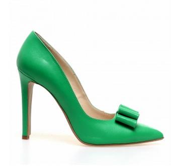 pantofi stiletto piele verzi