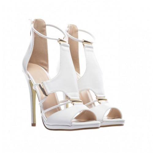 sandale albe cu toc 2015