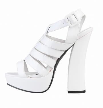 sandale albe cu toc ieftine