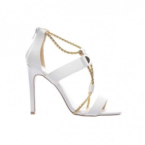 sandale albe la reducere