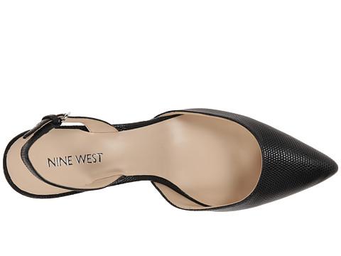stiletto negri piele nine west