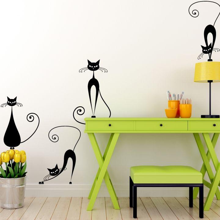 stickere de perete cu pisici