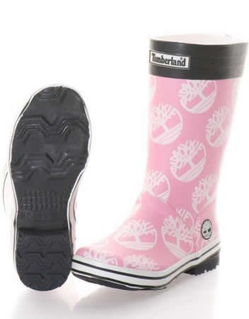 cizme de cauciuc copii timberland roz