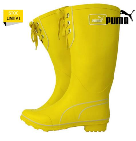 cizme de cauciuc de ploaie galbene