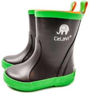 cizme de cauciuc pentru copii impermeabile verzi