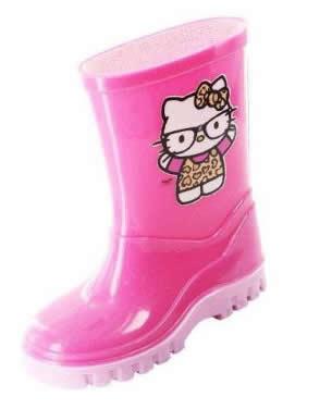 cizme de cauciuc pentru fete hello kitty roz