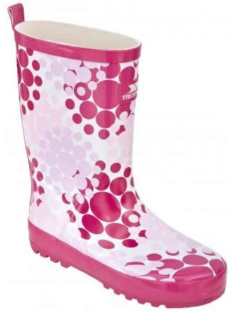cizme de copii din cauciuc roz cu buline