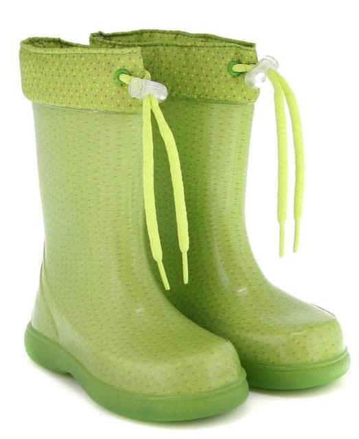 cizme pentru copii verzi din cauciuc de primavara