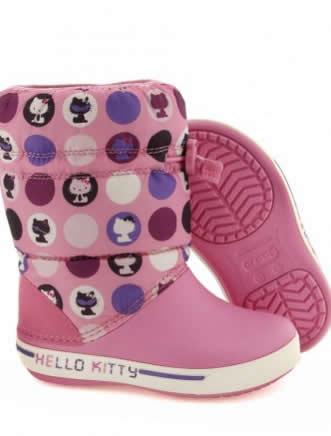 cizme pentru fete hello kitty roz
