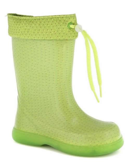 cizme verzi pentru copii din cauciuc