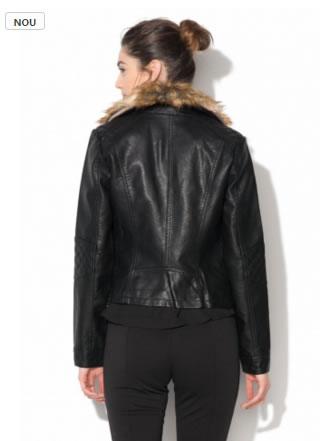 jacheta dama din imitatie de piele biker