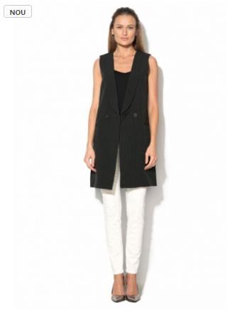 vesta de dama lunga office de culoare neagra