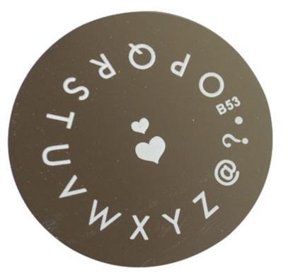 matrita cu litere pentru stampila unghii 3